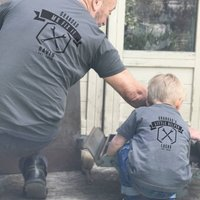 Grandads Little Helper Matching T Shirt Set