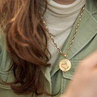 Statement Zodiac Art Coin Necklace