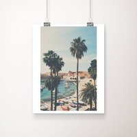 The Palm Trees And The Boats Photographic Print