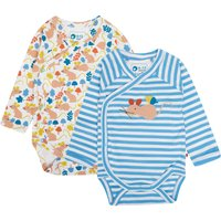 Two Pack Wrapover Fieldmouse Baby Bodysuit