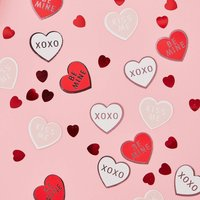 Pink And Red Foiled Heart Shape Valentines Confetti