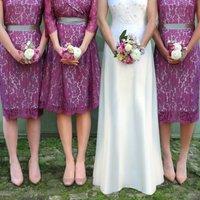 Bespoke Rose Lace Bridesmaid Dresses