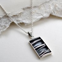 Sterling Silver Crumpled Silk Necklace, Silver
