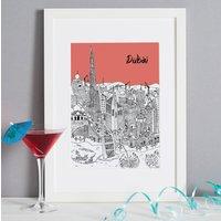 Personalised Dubai Print, Melon/Blush/Violet
