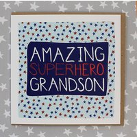 Grandson Birthday Card Super Hero Theme