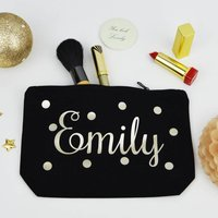 Personalised Spots Make Up Purse