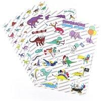 Dinosaur Sticker Sheet Pack Of Three Sheets A5