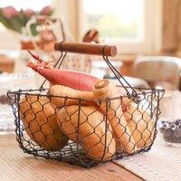 Chickenwire Kitchen Storage Trug Basket, Pink