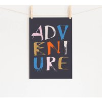 Adventure Lettering Giclee Print