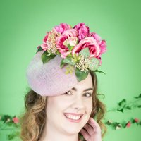 Pink Peony And Rose Hat