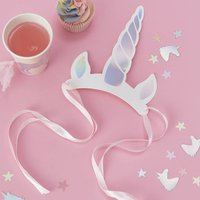 Iridescent Unicorn Horn Party Hat Headbands