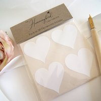 White Heart Decorative Stickers