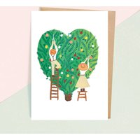 Topiary Heart Greeting Card