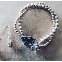 Pearl Bracelet And Earring Jewellery Gift Set