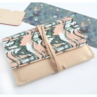 Printed Natural Leather Clutch Bag