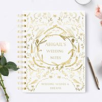 Personalised Wedding Notebook 'Naive'