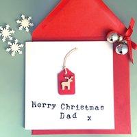 Personalised Christmas Reindeer Card