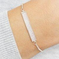 Personalised Bailee Crystal Bar Bracelet