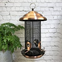 Giant Copper Style Seed Bird Feeder