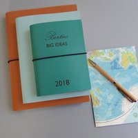 Personalised Big Ideas Leather Diary Journal