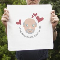 Personalised Handkerchief Pair For Grandad Gift