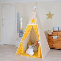 Yellow Lucky Star Teepee Tent