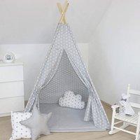 Kids Teepee Tent Grey Set