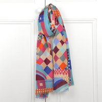 Geo Jewel Long Wool Scarf
