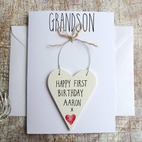 Grandson Personalised Birthday Card