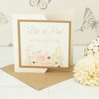 Charlotte Pocketfold Wedding Invitation