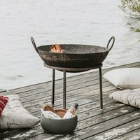 Iron Fire Pit With Removable Bowl