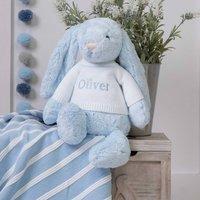 Personalised Bashful Blue Bunny Large Soft Toy