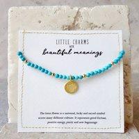 Turquoise Lotus Flower Friendship Bracelet