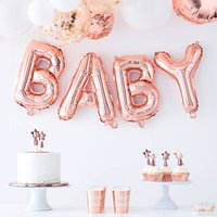 Rose Gold Baby Balloon Baby Shower Bunting