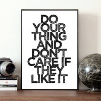 Inspirational Print 'Do Your Thing'