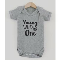 Young Wild And Age Wild And Free Babygrow