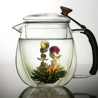Double Walled Glass Teapot