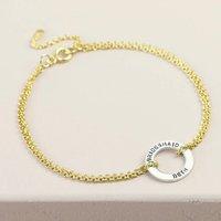 Personalised Sterling Silver Hoop Charm Bracelet, Silver