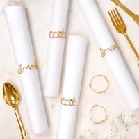 Six Gold Wire Napkin Rings
