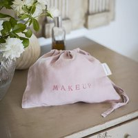 Rose Linen Makeup Bag