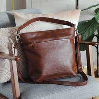 Leather Slouchy Hobo Shoulder Bag
