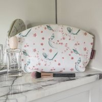 Fabric Makeup Bag Toiletries Case Bird Print