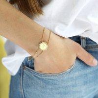 Personalised Gold Sunbeam Bracelet, Gold