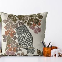 Country Lane Cushion Owl No3, Multi Colours Avail