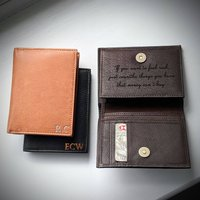 Foil Personalised Mens Medium Wallet With Coin Pocket