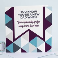 Prefer Sleep To Beer New Fathers Day Card