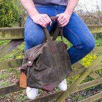 Personalised Monogram Waxed Holdall Bag