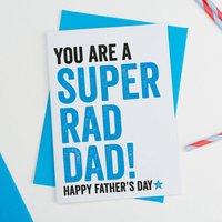 Super Rad Dad Fathers Day Card