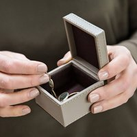 Square Leather Ring Box More Colours