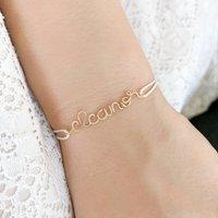 Personalised Name Silk Bracelet 14k Gold Filled, Gold